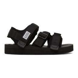 Suicoke Black KISEE-V Sandals OG-044V/KISEE-V