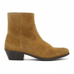 Golden Goose Brown Suede Cowboy Boots G36MS652.A5