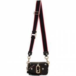 Marc Jacobs Black Magda Archer Edition Small Snapshot Bag M0016162
