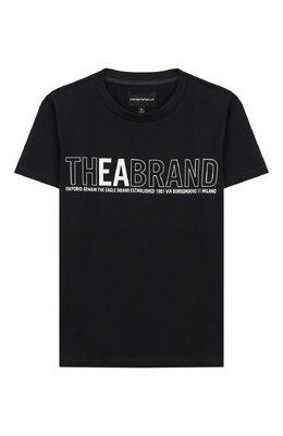 Хлопковая футболка Emporio Armani 3H4T91/1J0AZ