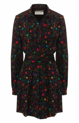 Платье с принтом Saint Laurent 573390/Y318V