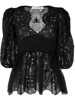 Vivetta блузка с кружевной вышивкой G0810085
