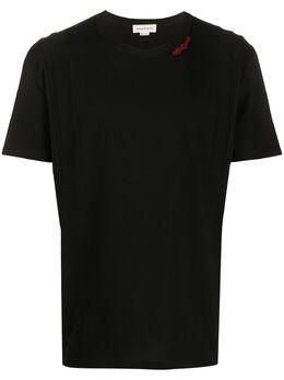 Alexander McQueen футболка с нашивкой-логотипом 603055QOX03