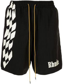Rhude спортивные шорты с логотипом RHU06PS20041