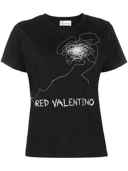Red Valentino футболка с логотипом TR0MG05A551
