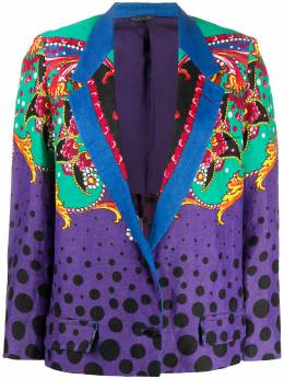 Versace Pre-Owned пиджак в горох VERSACE