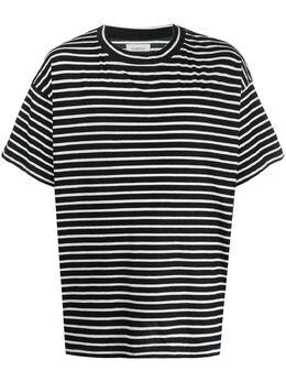 Laneus полосатая футболка оверсайз 90621