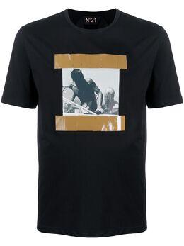 No. 21 футболка с принтом 20EN1M0F0426317