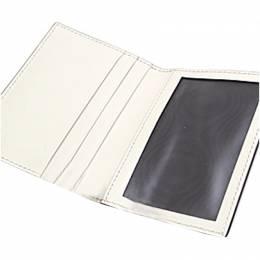 Gucci White Guccissima Leather Ribbon Card Case 271897