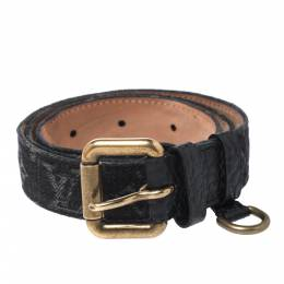 Louis Vuitton Black Monogram Denim Belt 80CM 272210