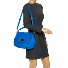 Marc By Marc Jacobs Blue Leather Classic Q Lil Ukita Top Handle Bag 272279