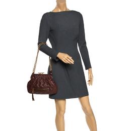 Marc Jacobs Brown Leather Little Stam Shoulder Bag