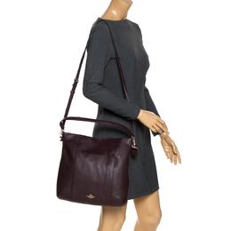 Coach Burgundy Leather Isabel Shoulder Bag 272362