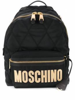 Moschino стеганый рюкзак с логотипом B76038205