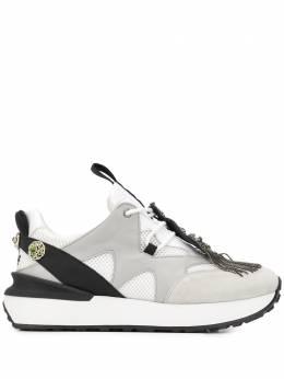 Mr & Mrs Italy кроссовки с вышивкой и бахромой XSK0114