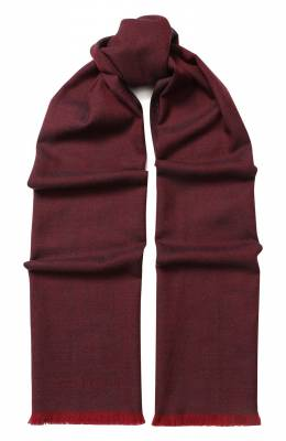 Шерстяной шарф с бахромой Corneliani 82B373-8829024/00