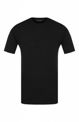 Хлопковая футболка Zegna Couture CTCJ01/6TJ04