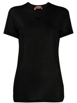 No. 21 полупрозрачная футболка с логотипом 20EN2M0F0154966