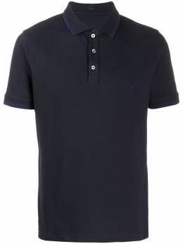 Fay рубашка-поло с вышитым логотипом NPMB240140SITOU809