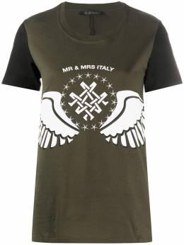 Mr & Mrs Italy футболка с логотипом XTS0143