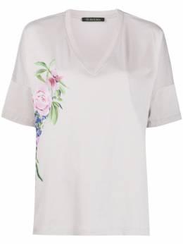 Mr & Mrs Italy футболка с V-образным вырезом и цветочным принтом XTS0141