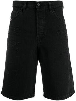 Diesel джинсовые шорты с эффектом потертости 00SSR3088AD