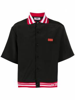 GCDS рубашка-поло с контрастной отделкой CC94M021200