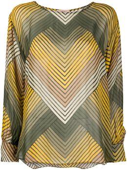 Twin-Set блузка с узором зигзаг 201TP2561