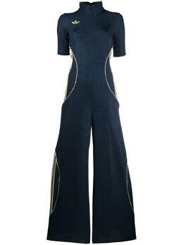 Adidas metallic wide-leg jumpsuit FQ4156