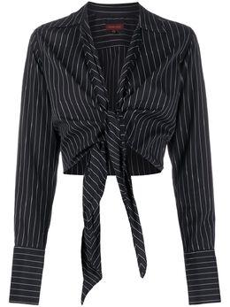 Romeo Gigli Pre-Owned укороченная рубашка 1990-х годов в полоску GGL250