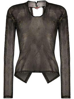 Romeo Gigli Pre-Owned прозрачная блузка 1990-х годов с эффектом металлик RGL250