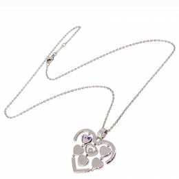 Chopard Amore Heart 1P Diamond 18K White Gold Pendant Necklace 272140