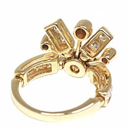 Bvlgari Fireworks Diamonds 18K Yellow Gold Ring Size 57 272136