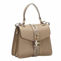 Chloe Brown Leather Aby Small Satchel Bag