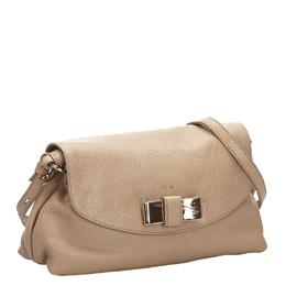 Chloe White Leather Lily Shoulder Bag