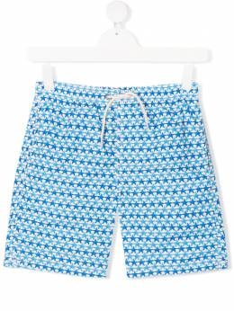 Mc2 Saint Barth Kids TEEN starfish print drawstring swim shorts JEANLIGHTING
