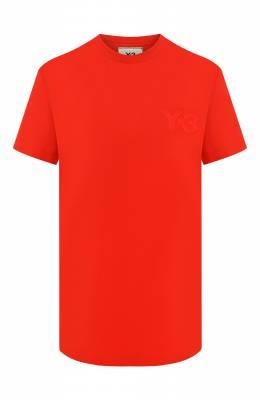 Хлопковая футболка Y-3 FN3461/W