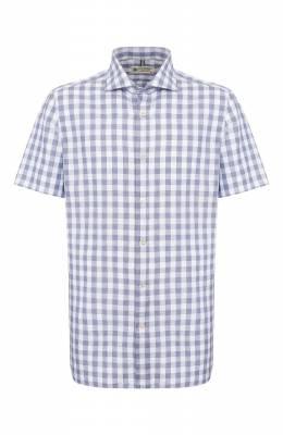 Рубашка изо льна и хлопка Luigi Borrelli EV08/NAND0 SS/TS9191