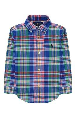 Хлопковая рубашка Ralph Lauren 321785618