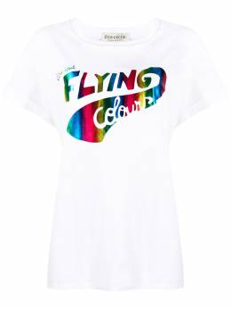 Etre Cecile футболка с принтом FLYINGRBOWOVR