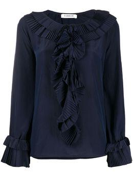 P.a.r.o.s.h. блузка с круглым вырезом и оборками POTEREXD311234