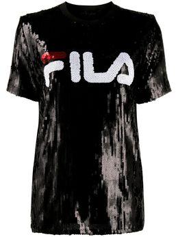 Fila футболка с пайетками и логотипом 684644