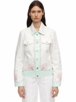 Coquillages Printed Cotton Denim Jacket Casablanca 71IXLE019-V0hJVEU1