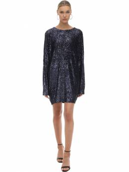 Sequined Mini Dress W/ Batwing Sleeves In The Mood For Love 71IXKL023-TkFWWQ2