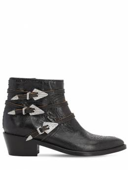 45mm Vintage Leather Ankle Boots Zadig & Voltaire 71IXI2004-Tk9JUg2