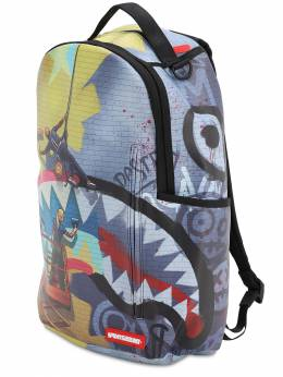 Rapellers Printed Canvas Backpack Sprayground 71IX0R025-TVVMVElDT0xPUg2