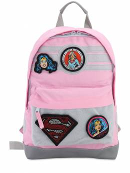 Canvas Backpack W/ Patches Fabric Flavours 71IWWO033-UElOSw2