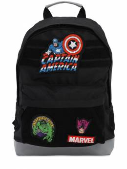 Marvel Canvas Backpack W/ Patches Fabric Flavours 71IWWO032-QkxBQ0s1