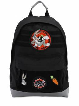 Looney Tunes Canvas Backpack W/ Patches Fabric Flavours 71IWWO031-QkxBQ0s1