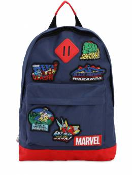 Canvas Backpack W/ Marvel Patches Fabric Flavours 71IWWO007-TkFWWQ2